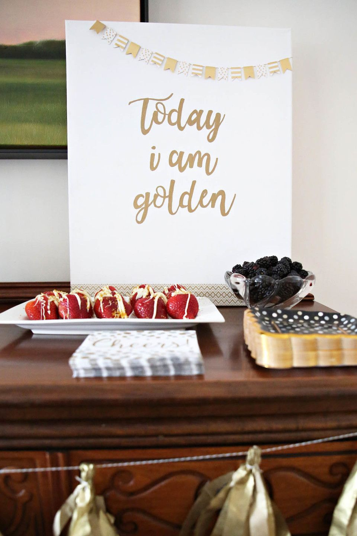 Claire's golden birthday party Golden birthday parties