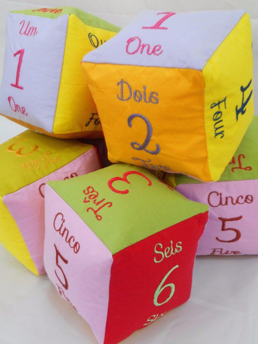Cubo Educativo Numeros Ingles Bordado 10x10cm Dado Brinquedo R 39 90 Brinquedos Educativo Brinquedos Educativos Para Criancas