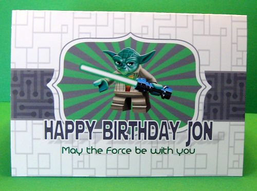 Star Wars Birthday Greeting Free ~ Free yoda birthday card may the force be with you crafts