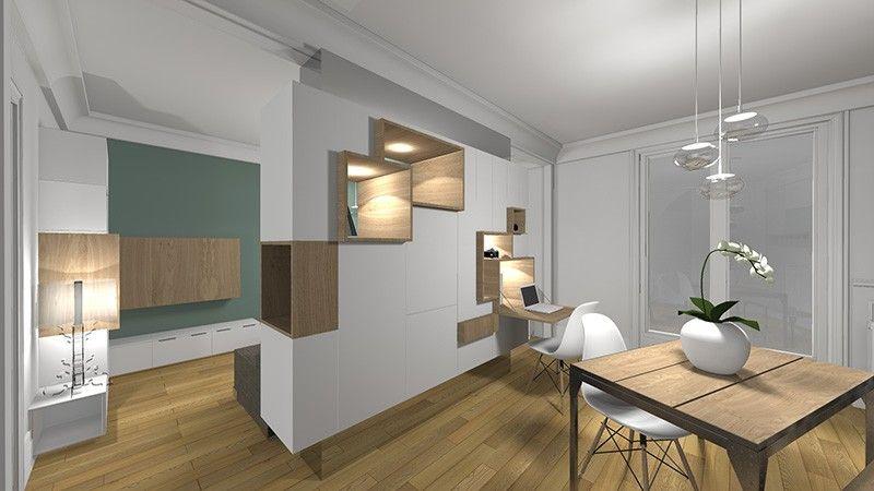 Changer  délimiter les différentes espaces de la pièce de vie et - creer une entree dans une maison