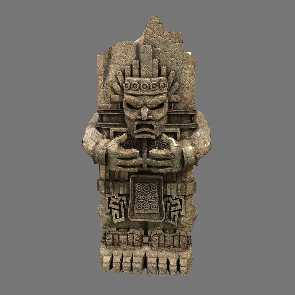 aztec stone 3d model totem statue | 3d statue | Pinterest ...