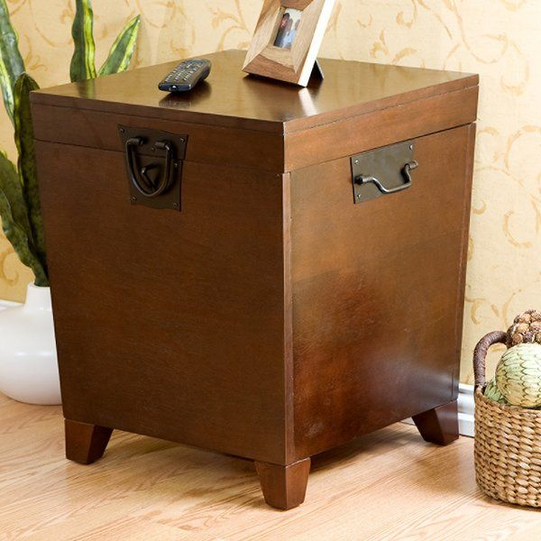 Make The Most Of Any Space With This Trunk Style End Table With Black Metal Hardware Set It Beside The Sofa Trunk End Table End Tables End Tables With Storage