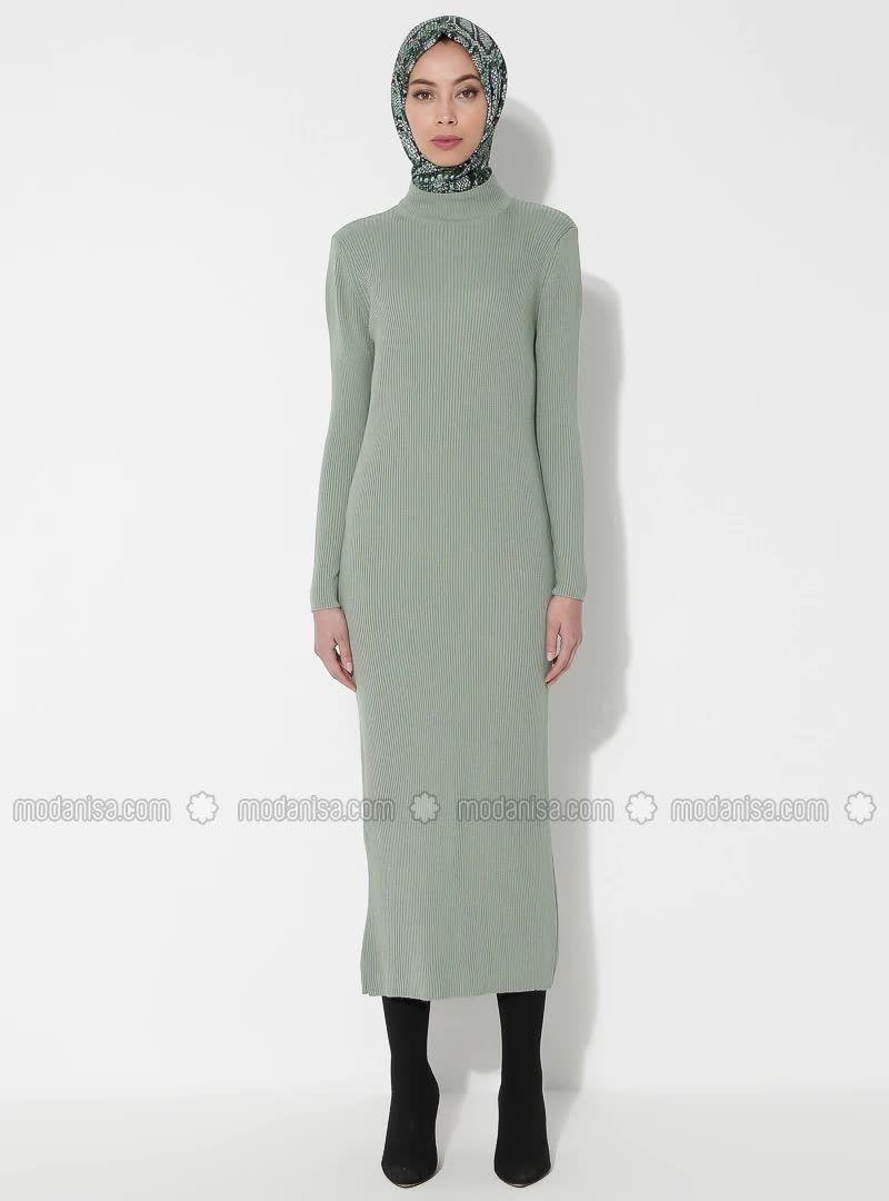 Bogazli Triko Elbise Cagla 2020 Elbise Modelleri Elbise Moda