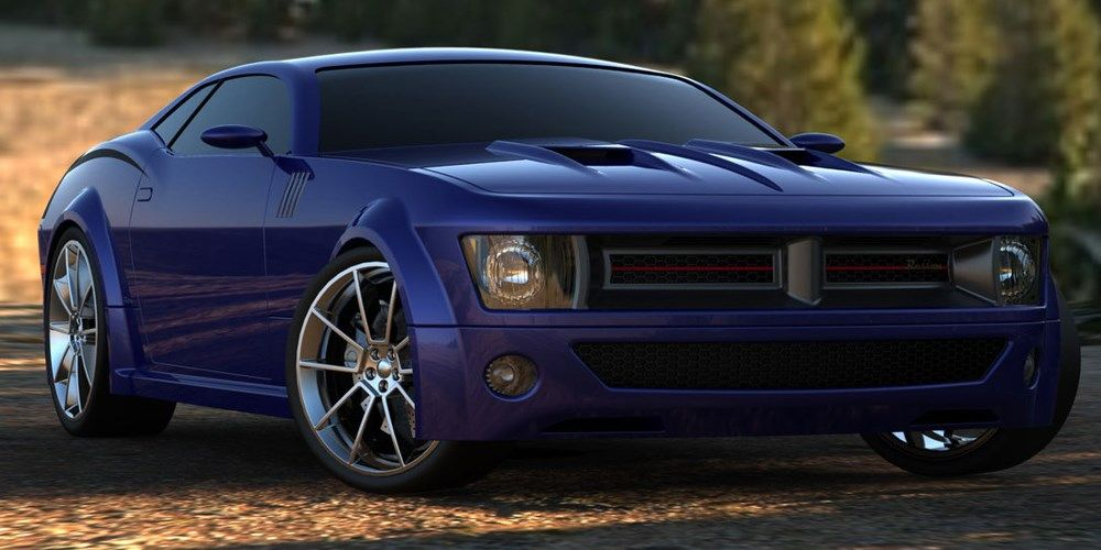 2017 Dodge Barracuda rendering blue 1