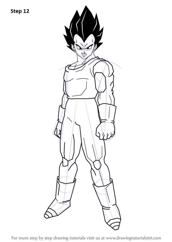 Learn How To Draw Vegeta From Dragon Ball Z Dragon Ball Z Step By Step Drawing Tutorials Dragon Ball Z Dragon Ball Dragon Ball Artwork