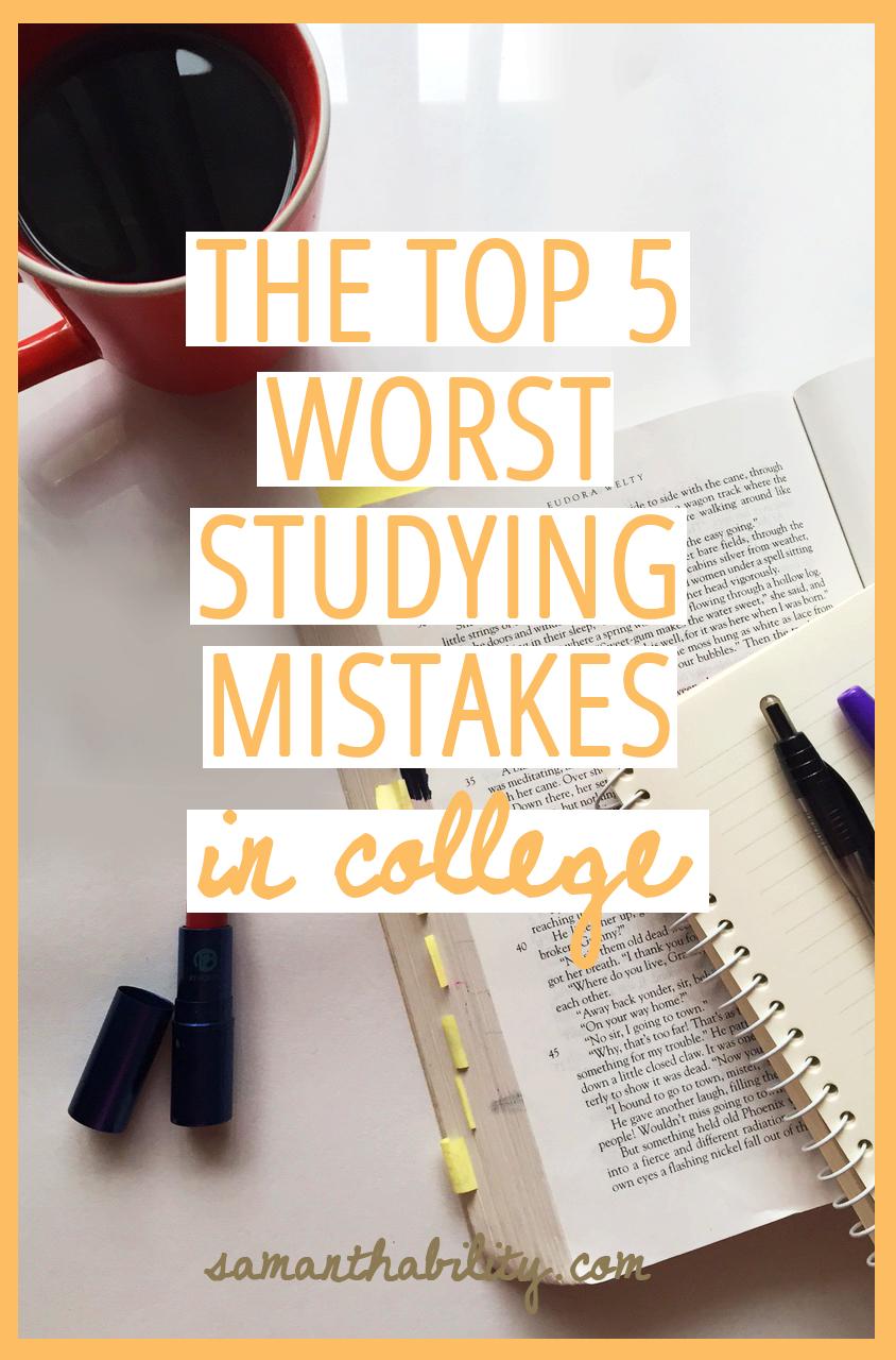 5 bad study habits