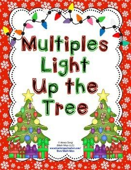 """Your students will love identifying multiples with this game! Students identify multiples to """"light up"""" or color in lights on a Christmas tree.   This game download - * is simple to assemble and requires no special materials * includes a color version and a """"printer ink friendly"""" black and white version of this game * can be downloaded and played immediately * helps students practice an important skill"""