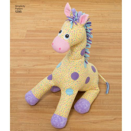 Sewing Pattern for Child\'s Stuffed Zebra, Unicorn, Pegasus and ...