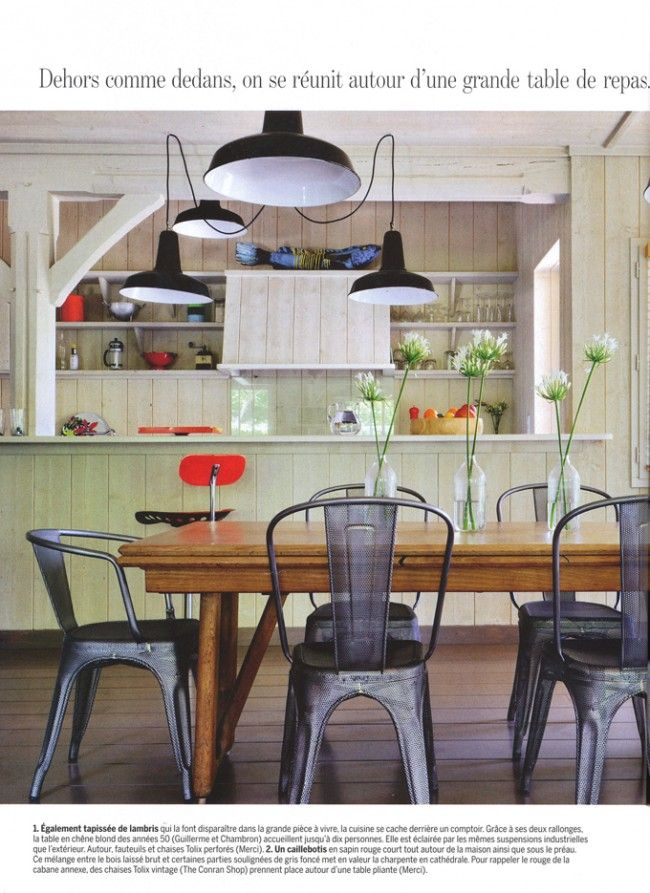 Tolix chairs | Marie Claire Maison May/June 2012