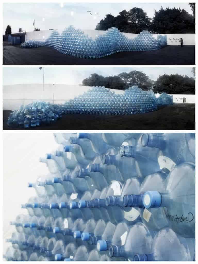 Bloo Metal: The Waving Wall of Chalkwell #artinstallation