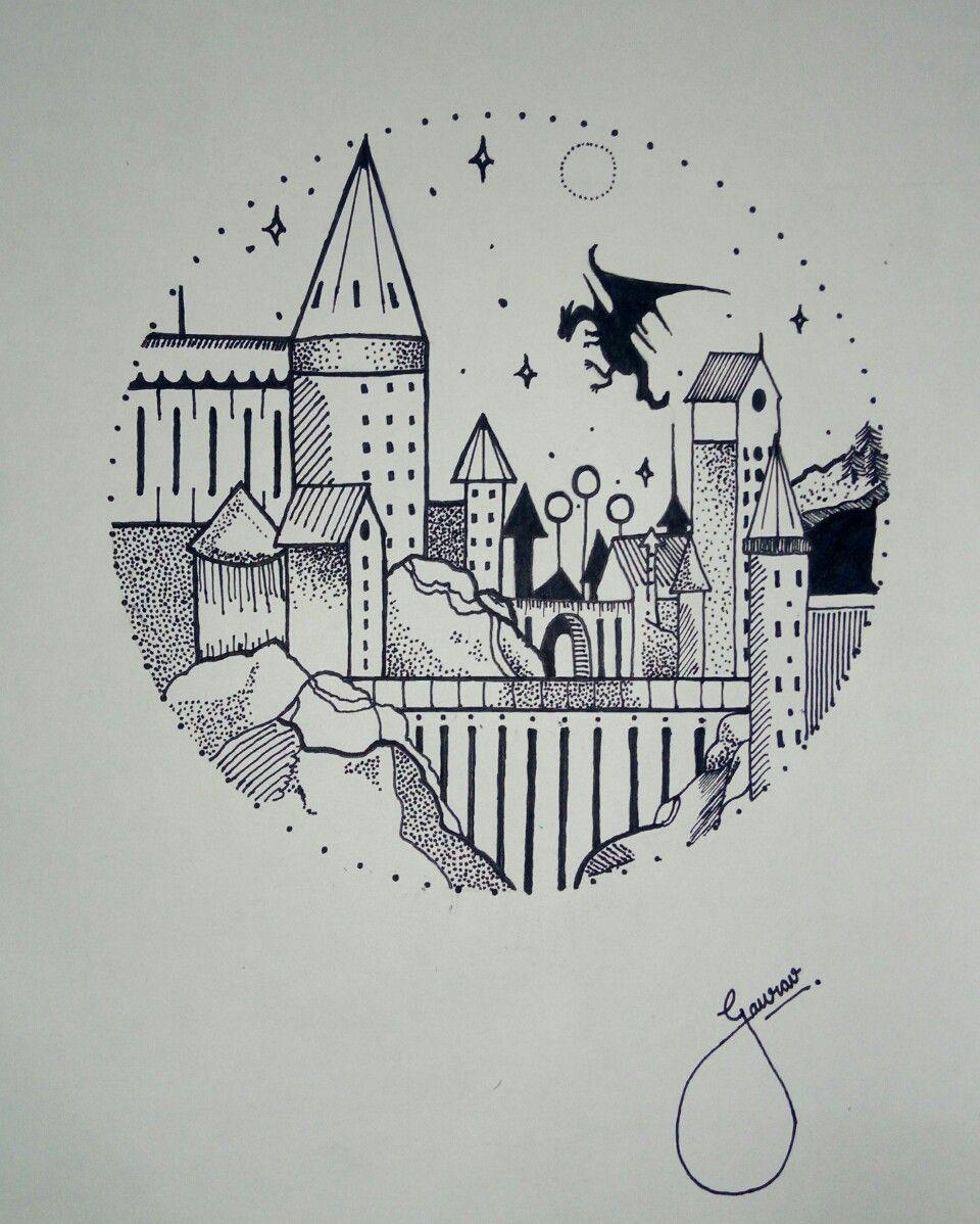 Hogwarts Drawing Doodle