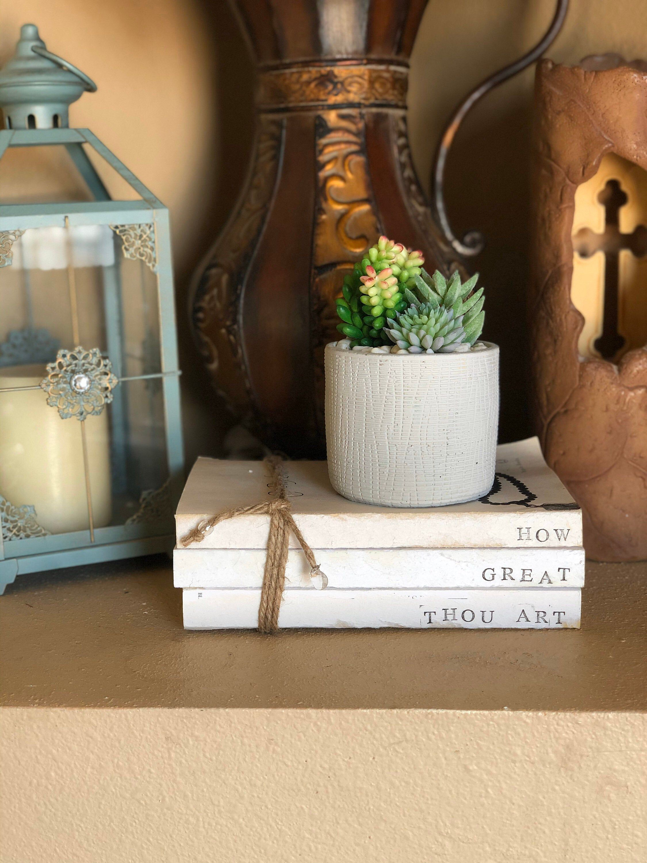 Excited to share my Farmhouse Decorative Stamped Book Bundles/Christian Book Bundles. They are $26 #farmhousedecor #vintagebarn_nd