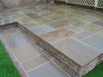 RAJ BLEND Indian Stone Paving   4 Size / 15.5m2 Project Pack (25mm To
