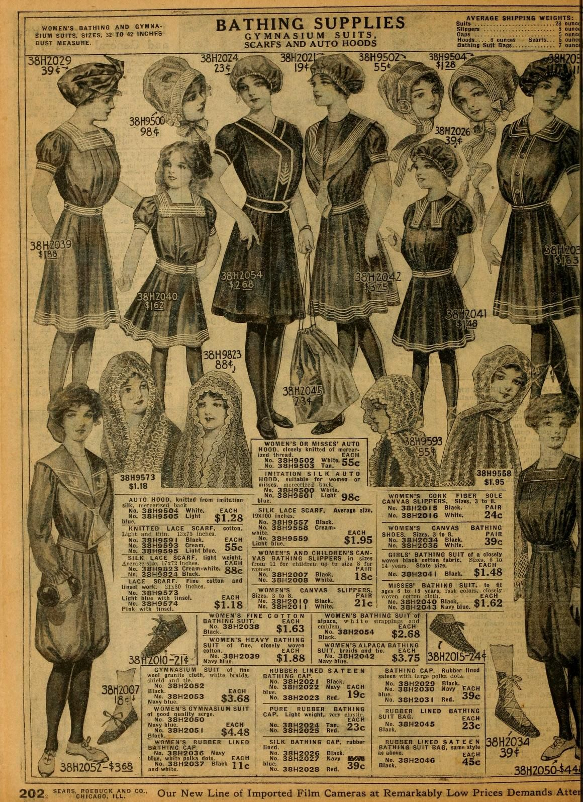 044d56b46ed Bathing dresses from 1912 Sears catalog. | Early 1900s Clothing in ...