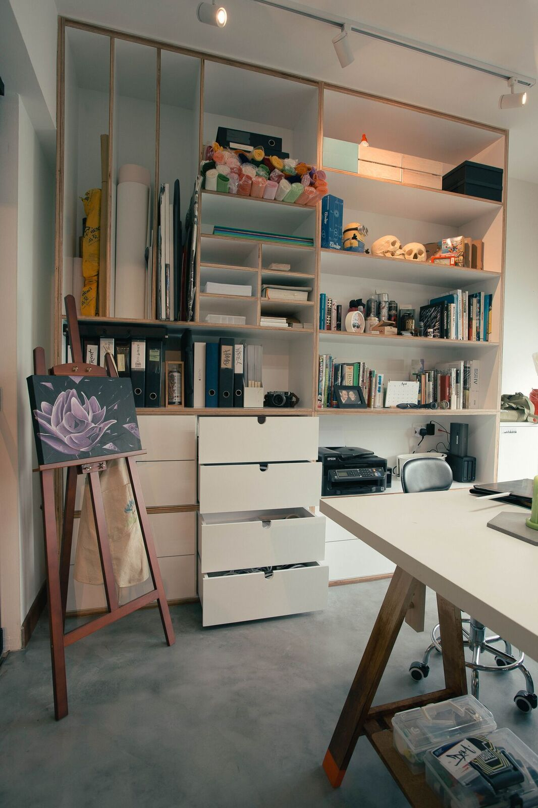 Hdb Study Room Design Ideas: Pegboard And Dowels In A 4-room HDB Flat