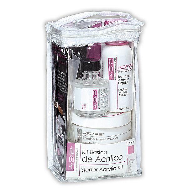 Asp Basic Starter Acrylic Kit Acrylic Nail Supplies Acrylic Nail Kit Diy Acrylic Nails