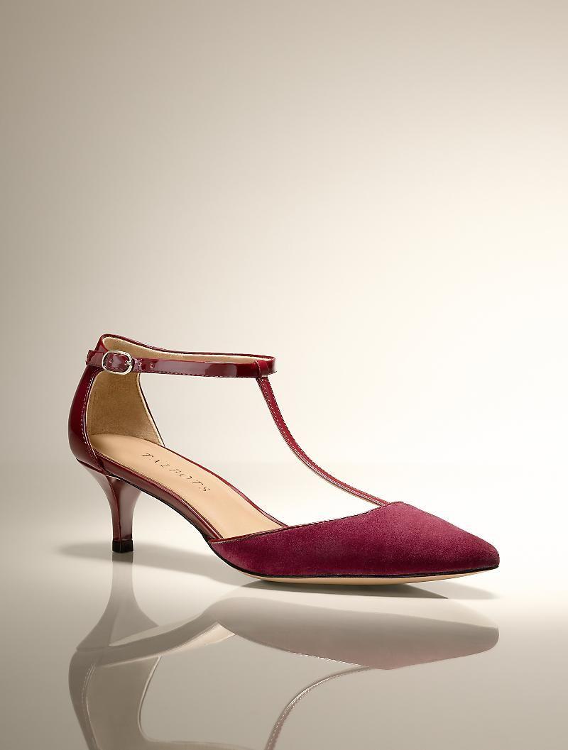 Talbots Dayna T Strap Pumps New Arrivals Medium Kitten Heel Shoes Medium Heel Shoes Heels