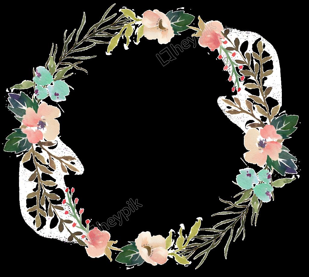 Fresh Wreath Watercolor Transparent Decorative Flower Fondos De Flores Circulo De Flores Flores