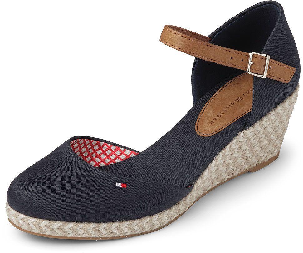 Damen High Heels : Tommy Hilfiger Damen Wedges Rosa ELBA