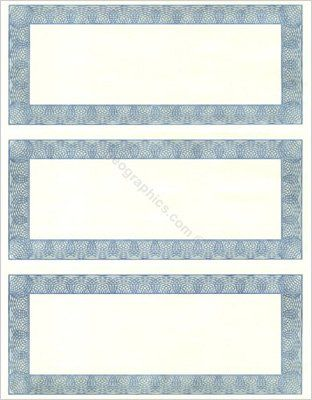 geographics diplomat 3 up gift certificates 3 66 x 8 5 inches blue