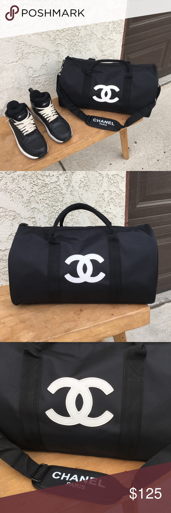 0c7687df4aa3 CHANEL MEN PERFUME VIP GIFT DUFFLE BAG GYM BAG Authentic new in plastic bag  It's a free gift with purchase men perfume of Chanel CHANEL Bags Travel Bags