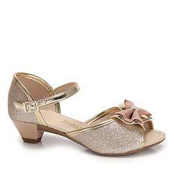 c1e621a1a24ca Sandália Salto Infantil Molekinha - 25 ao 34 - Dourado   sapatilhas ...