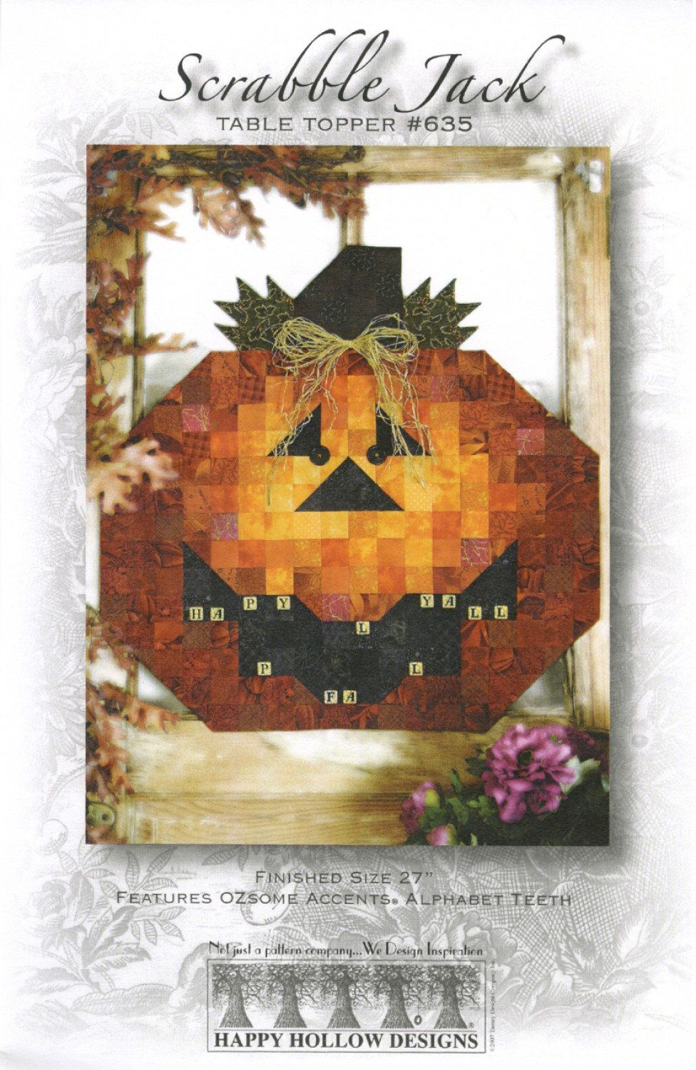 Scrabble Jack Happy Hollow Quilt Pattern Fall Table Topper