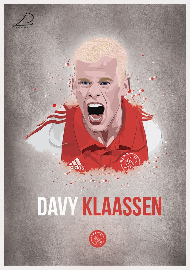 Davy Klaassen Ajax Poster Football Art Poster Sports Stars