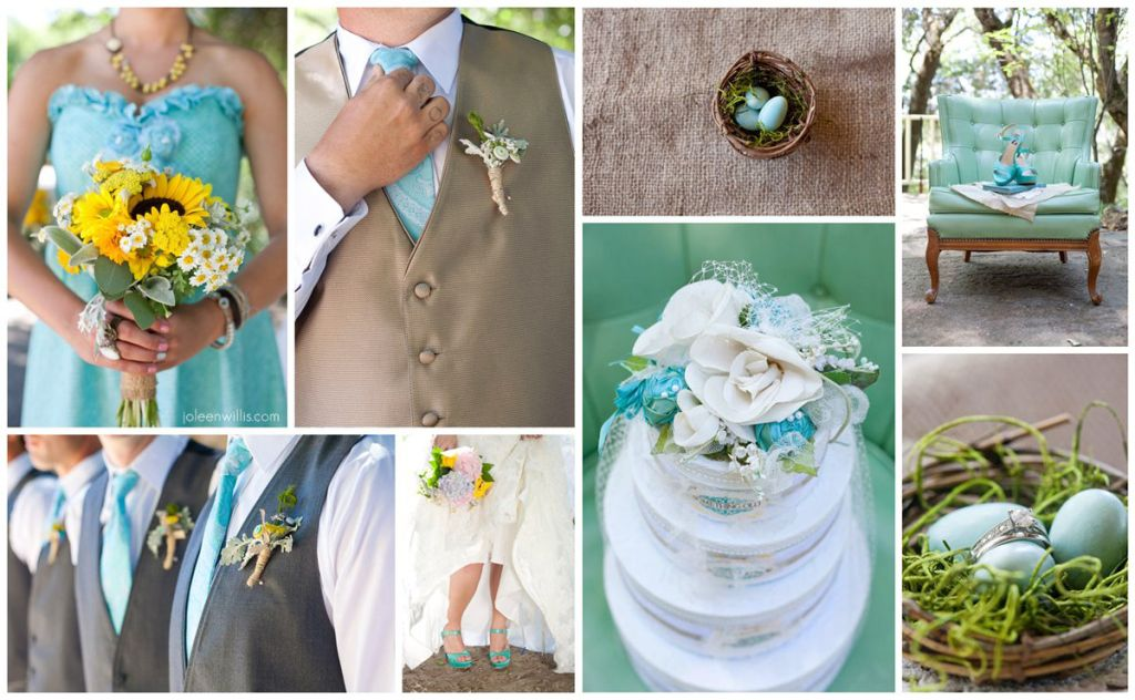 Color inspiration teal yellow rustic wedding colors