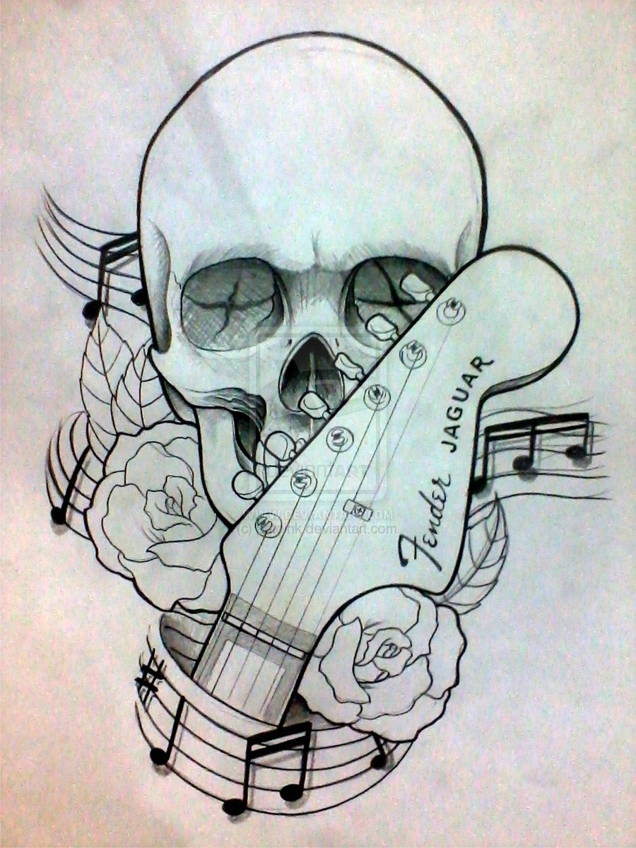Skull With Crossed Guitars Tattoo Google Search Guitar Tattoo Design Music Tattoo Designs Guitar Drawing