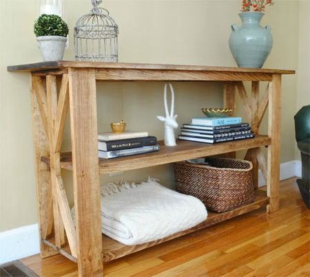 Beautiful Grab Some PAR Pine At Your Local Builders Warehouse To Make This Easy  Rustic Console Table