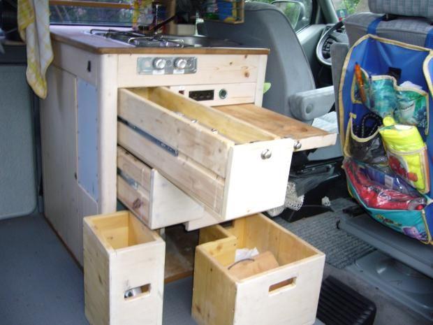 Bauanleitung Küchenblock Für Campingbus Selber Bauen Pinterest