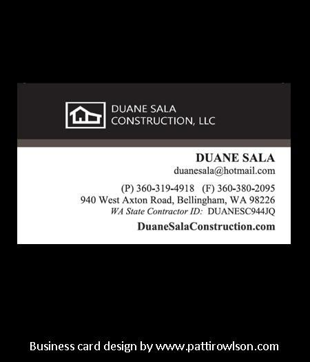 Business card for a general contractor - pattirowlson.com ...