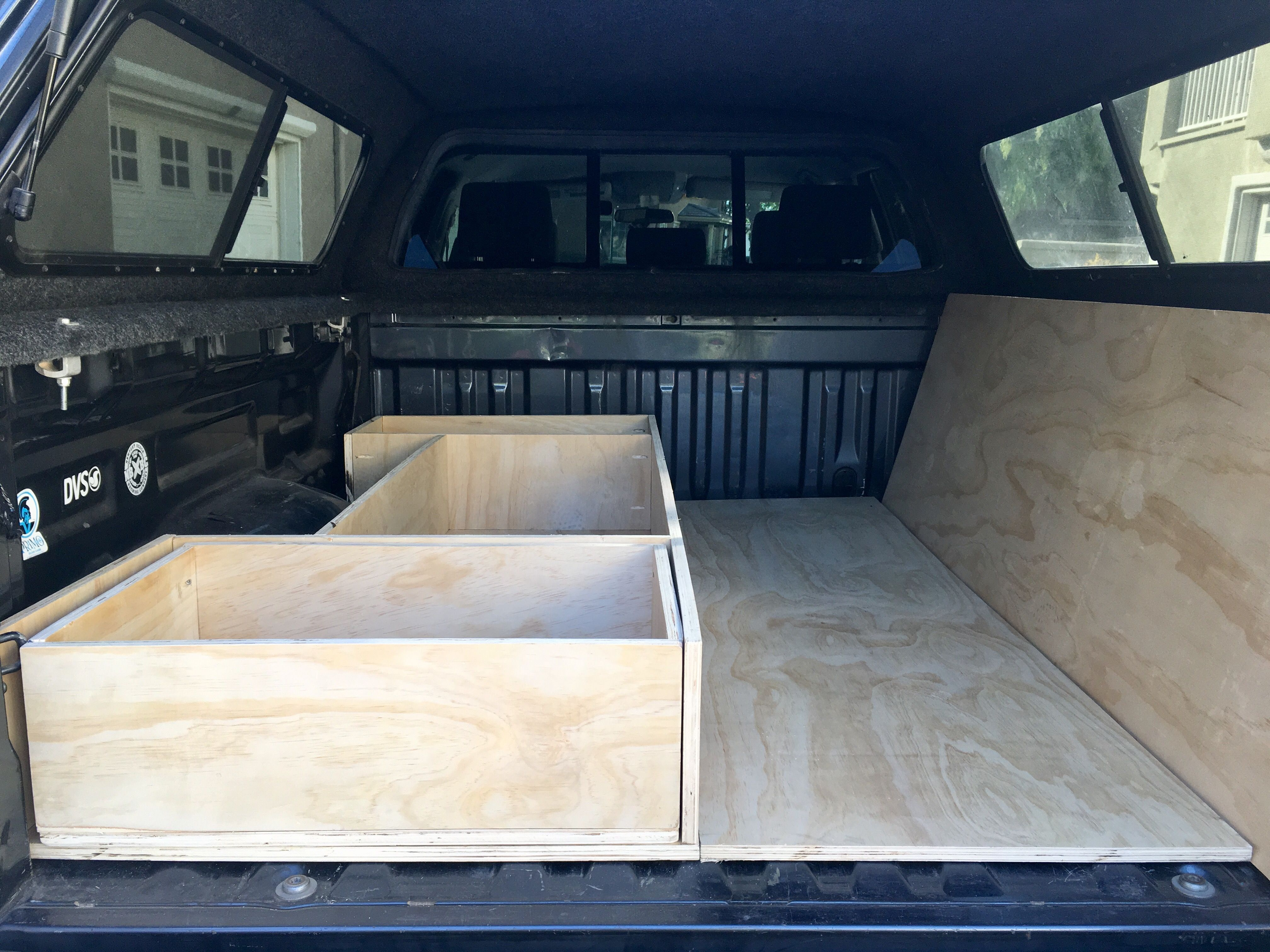 Extra Sleeper Platform And Right Side Storage Truck Bed Camper