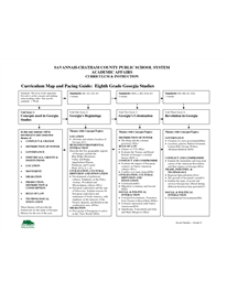 Curriculum Map And Pacing Guide Eighth Grade Georgia Studie Social - Us-history-curriculum-map