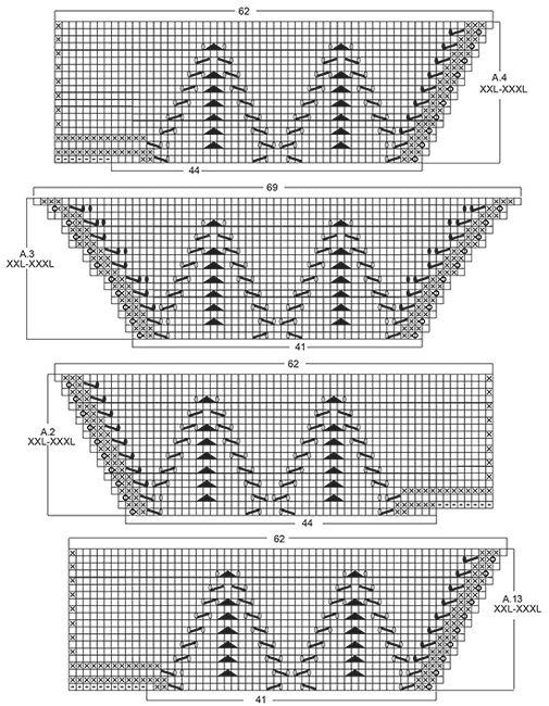 """Top rendado DROPS com decote em V, em """"Belle"""". Tricota-se de cima para baixo. Do S ao XXXL. Modelo gratuito de DROPS Design."""
