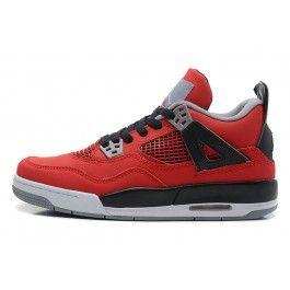Schwarz Air Jordan 4 Unisexschuhe Beste Rot Nike Schuhe knwO80PX
