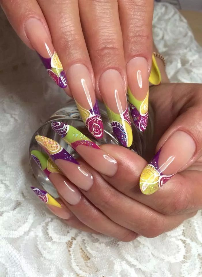 Nice but a bit too long for me | PweedyNailz | Pinterest | Simple ...