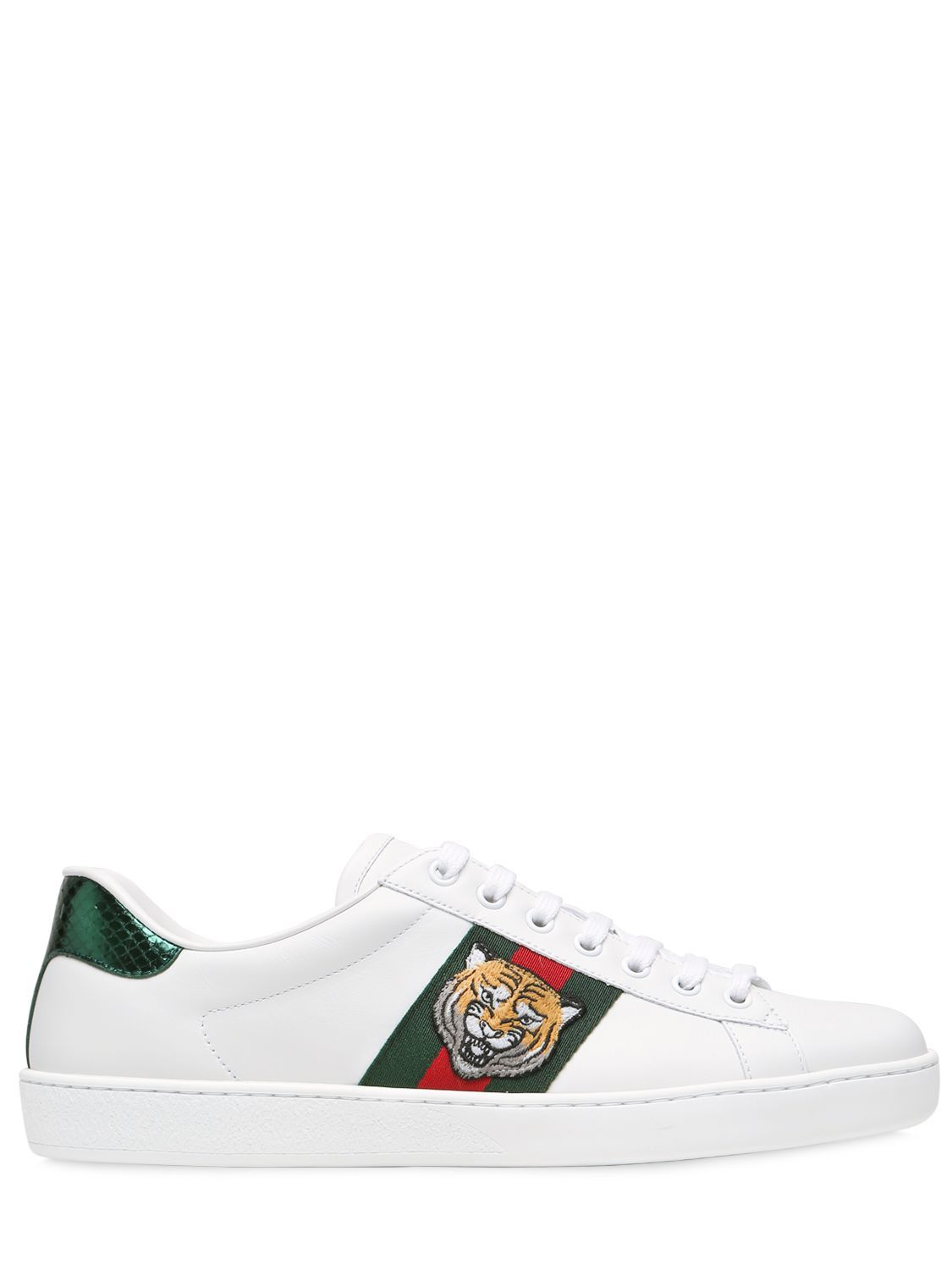 3397334dfce GUCCI TIGER NEW ACE LEATHER SNEAKERS W  AYERS.  gucci  shoes ...