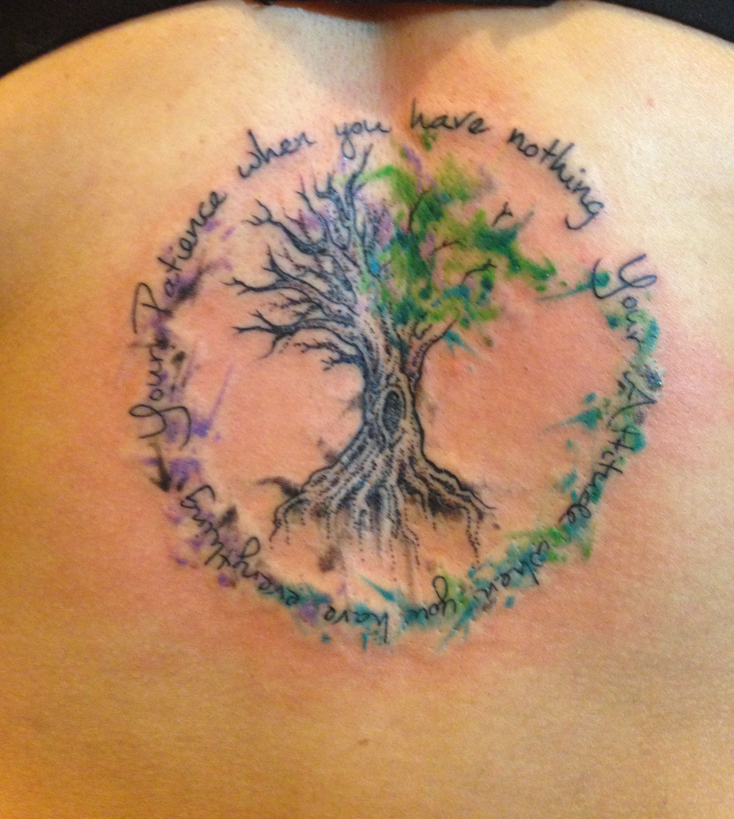 Watercolor Quote Tattoo Tree Of Life Tattoos Life Tattoos
