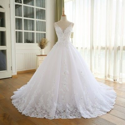 XP70 Gorgeous Ball Gown Wedding Dress With Lace,Princesa Vintage Wedding Dresses,Real Image Bridal Gown 2017 from Pretty Lady