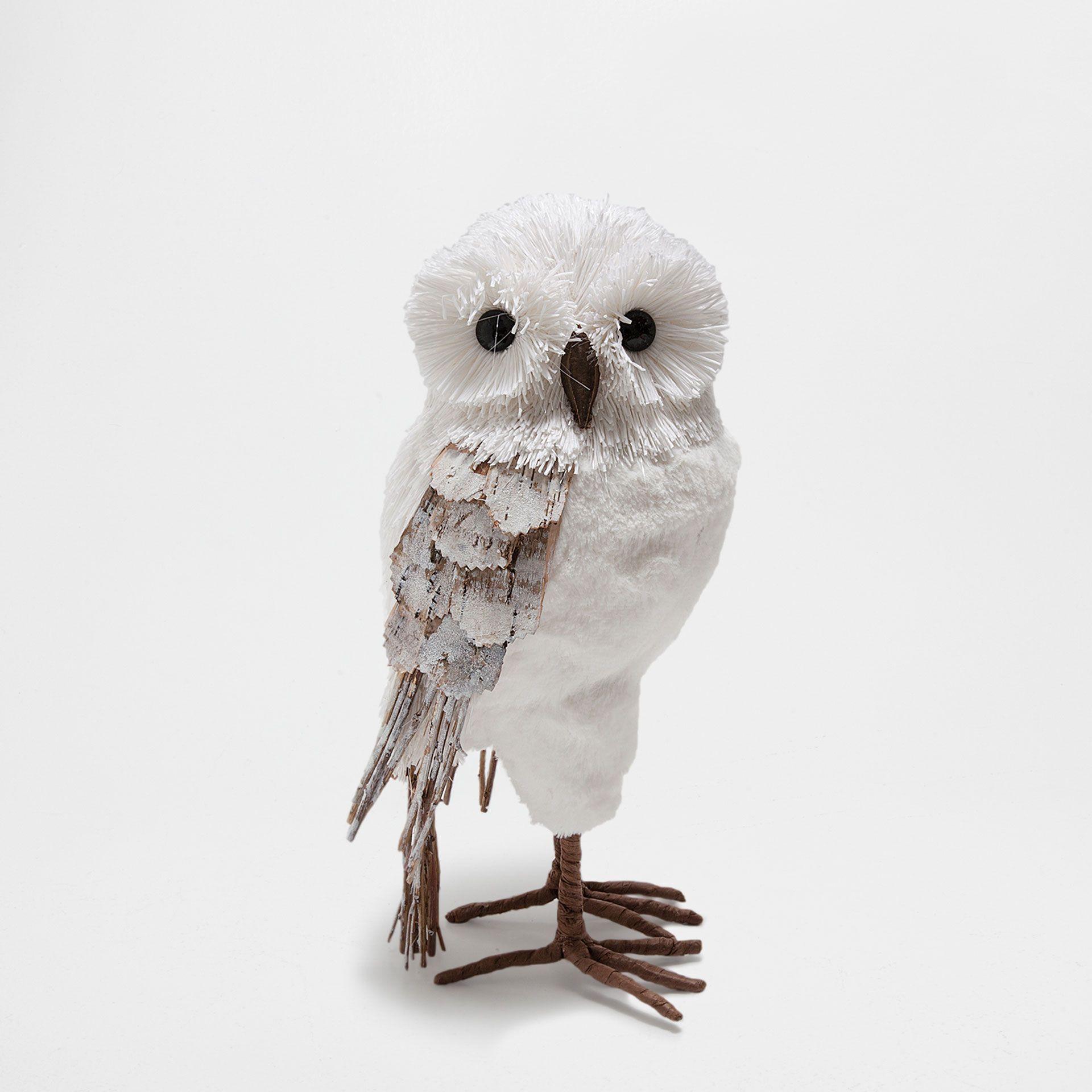 Adorno forma búho blanco - Accesorio decorativo - Navidad | Zara ...