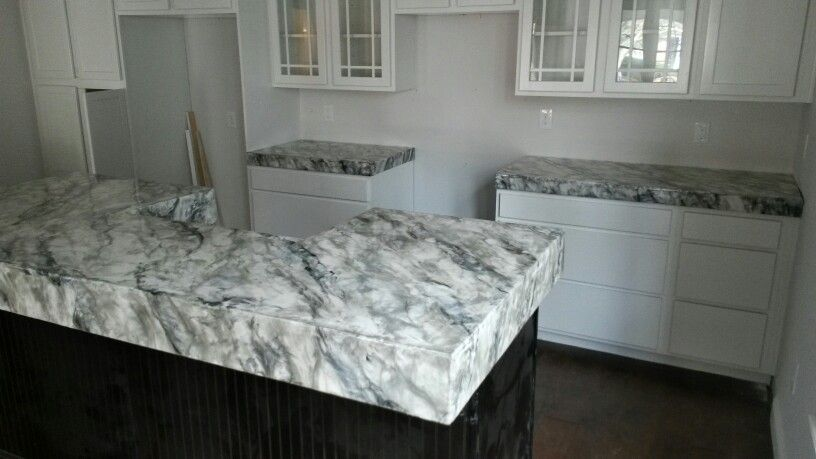 Faux Marble Concrete Countertops Concrete Countertops Home Diy