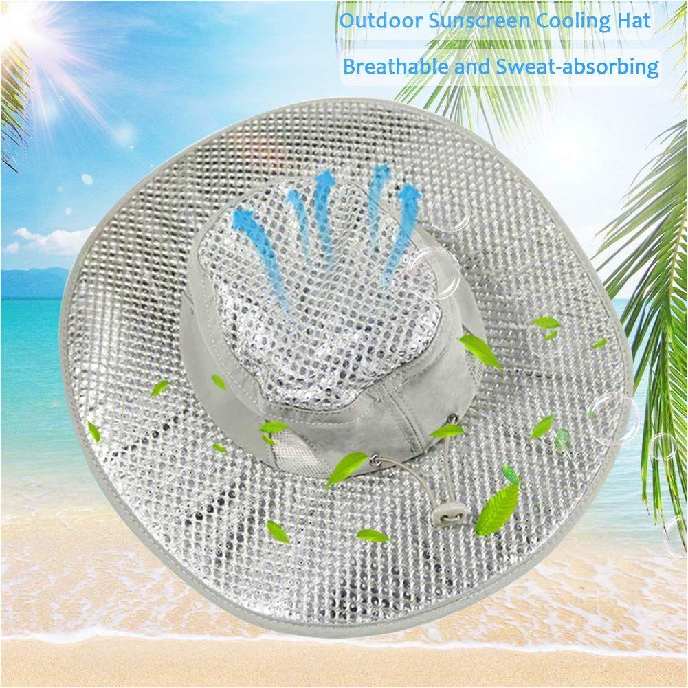 Xianful Hydro Cooling Sun Hat Summer Sunscreen Heatstroke Hat Uv