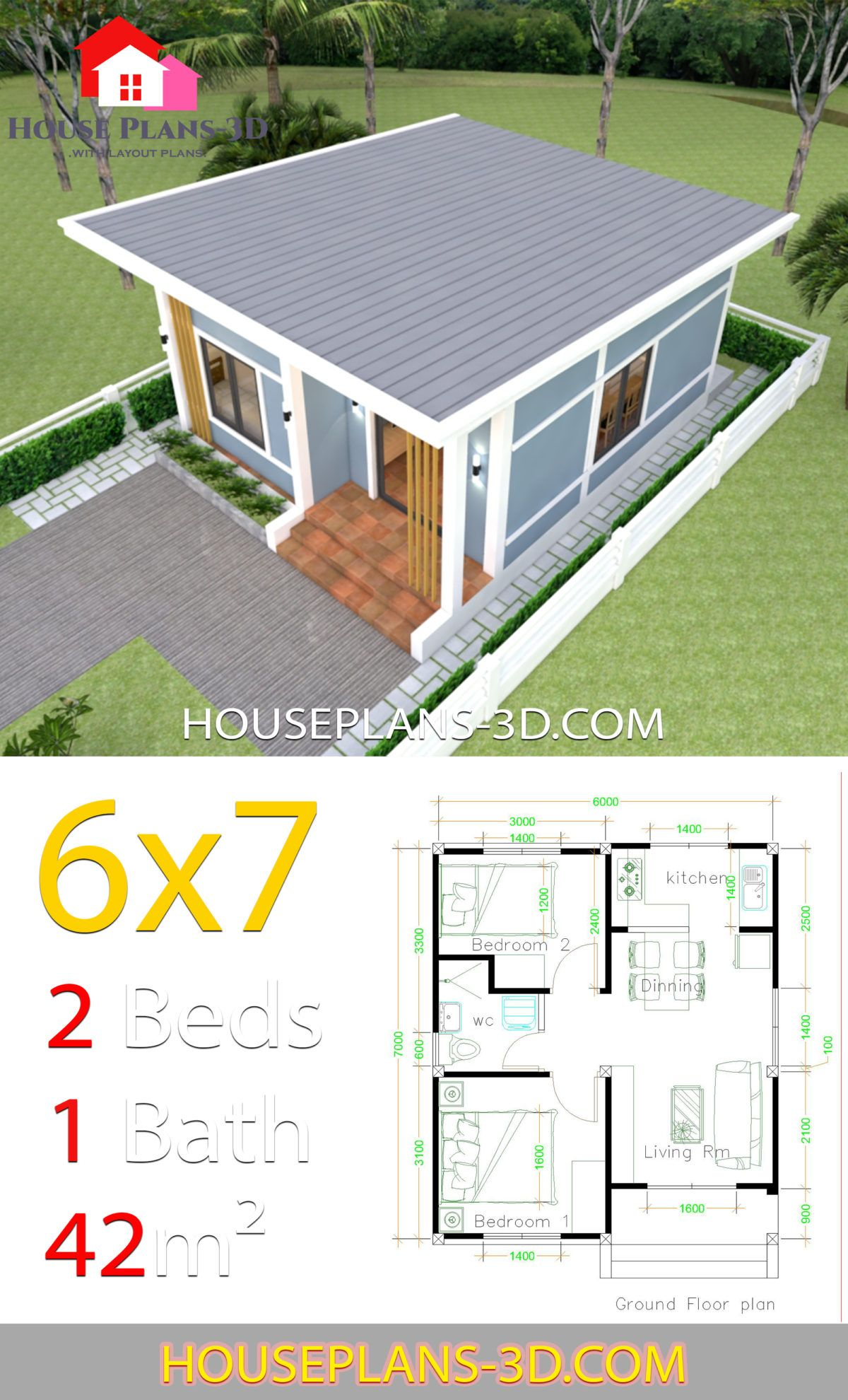 Small House Design Plans 5x7 With One Bedroom Shed Roof Tiny House Plans Small House Design Plans 1 Bedroom House Plans One Bedroom House