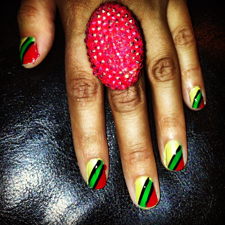 African Jamaican Nail Art Design | Accessories | Pinterest | Jamaica ...