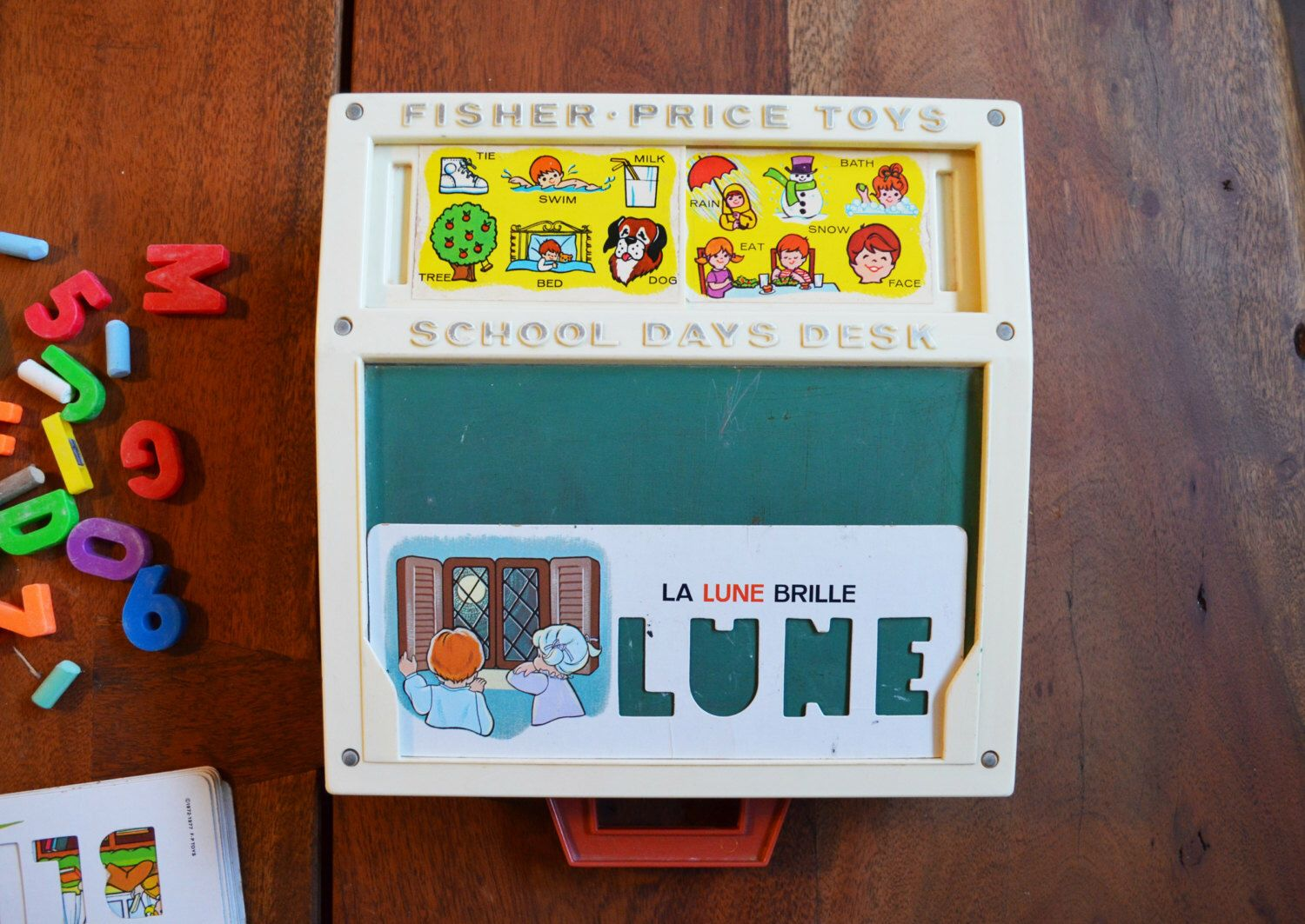 French Vintage Fisher Price School Days Play Desk