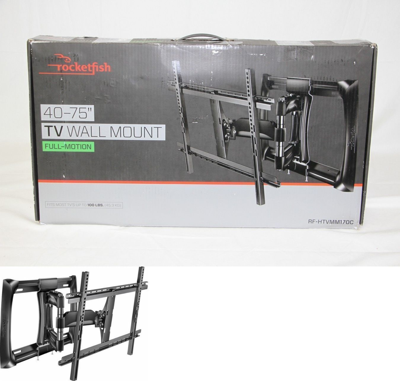 TV Mounts And Brackets: Rocketfish Full Motion Tv Wall Mount For Most 40   Design