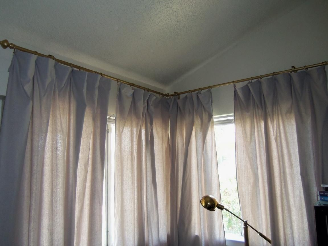 Lowes Curtain Rods Tips To Help You Find The Best Choice In 2020 Corner Window Curtains Corner Curtains Bronze Curtain Rods