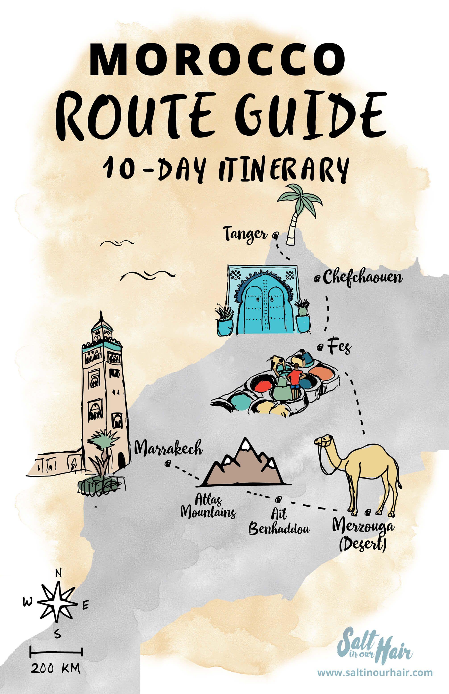Morocco Route Guide A 10 Day Travel Itinerary Marokko Rundreise Marokko Reisen Und Marroko Reise
